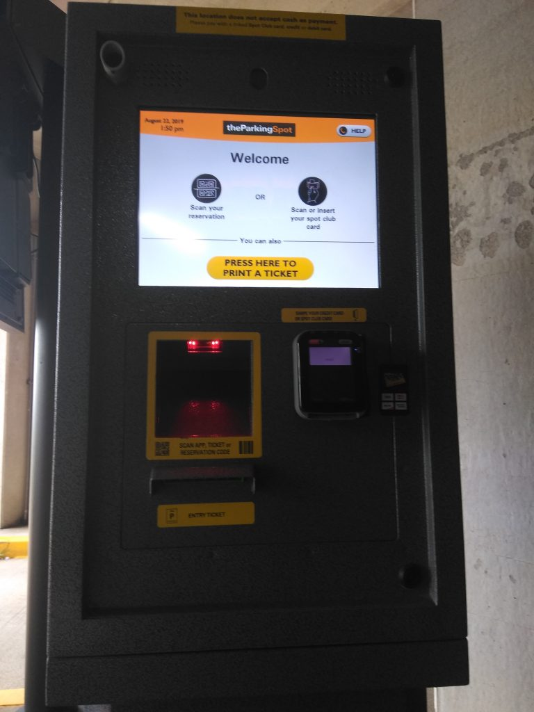 The Parking Spot St Louis Pull up Ticket Machine