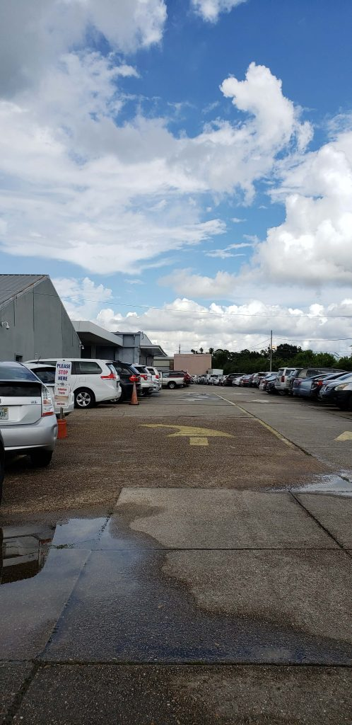 NOLA Airport Parking from the Street