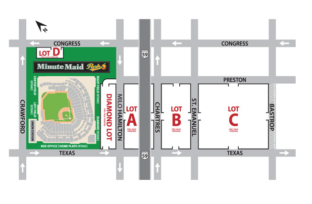 Minute Maid Park Parking Map 2019/2020