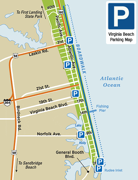 Virginia Beach Parking Map (updated 2021)
